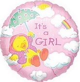 "18"" Just Ducky Girl Balloons"