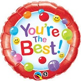 "18"" You're The Best Candy Gumballs Packaged Mylar Balloon"