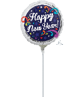 "4"" Airfill Only New Years Swirls Balloon"