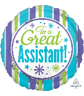 "18"" Great Assistant Stripes Balloon"