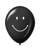 "11"" Smiley Face Latex Balloons 25 Count Black"