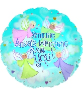 "18"" Smiling Angels Watch Foil Balloon"