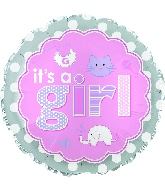"17"" It's A Girl Baby Icons Balloon"