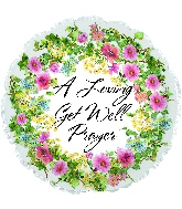 "17"" Get Well Floral Prayer Foil Balloon"