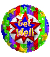 "18"" Get Well Colorful Burst"