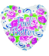 "17"" Feel Better Cottage Roses Balloon"