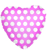 "9"" Airfill Pink with White Polka Dots"