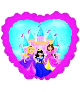 "10"" Airfill Only Princess Castle with Ruffle Foil Balloon"