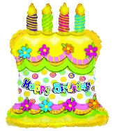 14'' Airfill Happy Birthday Cake M110