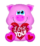 "12"" Love You Pink Piglet Foil Balloon"