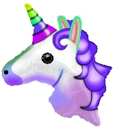 "9"" Emoji Emoticon Unicorn Balloon"
