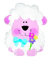"12"" Spring Sheep Foil Balloon"