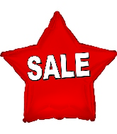 "17"" Red Sale Star Balloon"