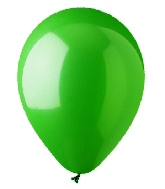 "12"" Standard Green Latex (100 Per Bag)"