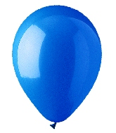 "12"" Standard Blue Latex (100 Per Bag)"
