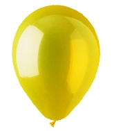 "12"" Crystal Yellow Latex (100 Per Bag)"