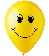 "12""  Smiley Face Latex 50&#39s"