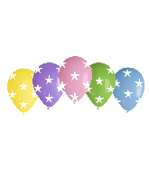 "12"" Stars Assorted Latex Balloons (50 Per Bag)"