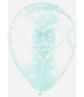 "12"" Crystal Clear Wedding Wishes Latex 50's"