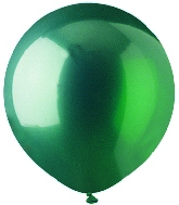 "17"" Crystal Green Latex 72 Count"