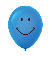 "11"" Smiley Face Latex Balloons 25 Count Blue"