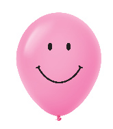 "11"" Smiley Face Latex Balloons 25 Count Magenta"