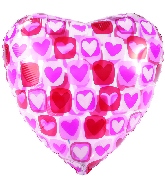 "4.5"" Airfill Only Heart Block Clear Foil Balloon"