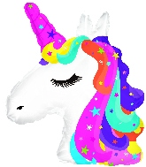 "10"" Airfill Only Rainbow Unicorn Foil Balloon"