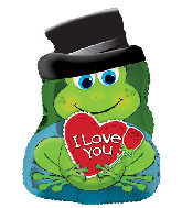 "22"" I Love You Prince Charming Frog Foil Balloon"