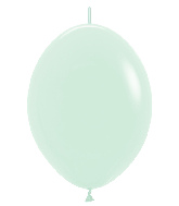 "12"" Link-O-Loon Latex Balloons Pastel Matte Green"