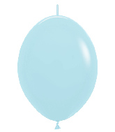 "12"" Link-O-Loon Latex Balloons Pastel Matte Blue"