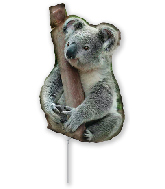 Airfill Only Foil Shaped Balloon Koala Bear