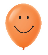 "11"" Smiley Face Latex Balloons 25 Count Orange"