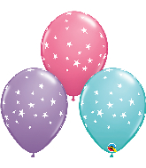 "11"" Contempo Stars Assortment Latex Balloons"