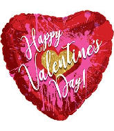 "18"" Happy Valentine&#39s Day Abstract Heart Foil Balloon"