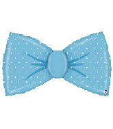 "42"" Foil Shape Balloon Blue Bowtie"