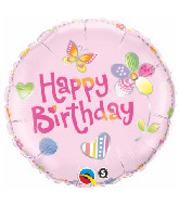 "18"" Birthday Fashion Pink Packaged Mylar Balloon"