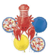 Bouquet Seafood Fest Foil Balloon