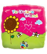 "18"" Te Quiero Mama Drawing Foil Balloon"