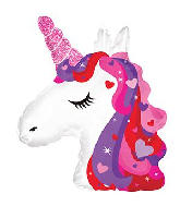 "10""Airfill Only Unicorn Heart Sparkle Foil Balloon"