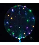 Crystal Clearz Multi Colored Lights Balloon