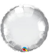 "18"" Round Qualatex Chrome™ Silver Foil Balloon"