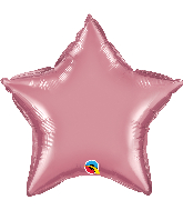 "20"" Star Qualatex Chrome™ Mauve Foil Balloon"