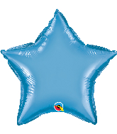 "20"" Star Qualatex Chrome™ Blue Foil Balloon"