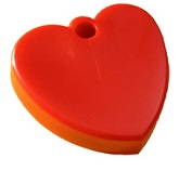 65 Gram Red Hearts Weights 10 Pack