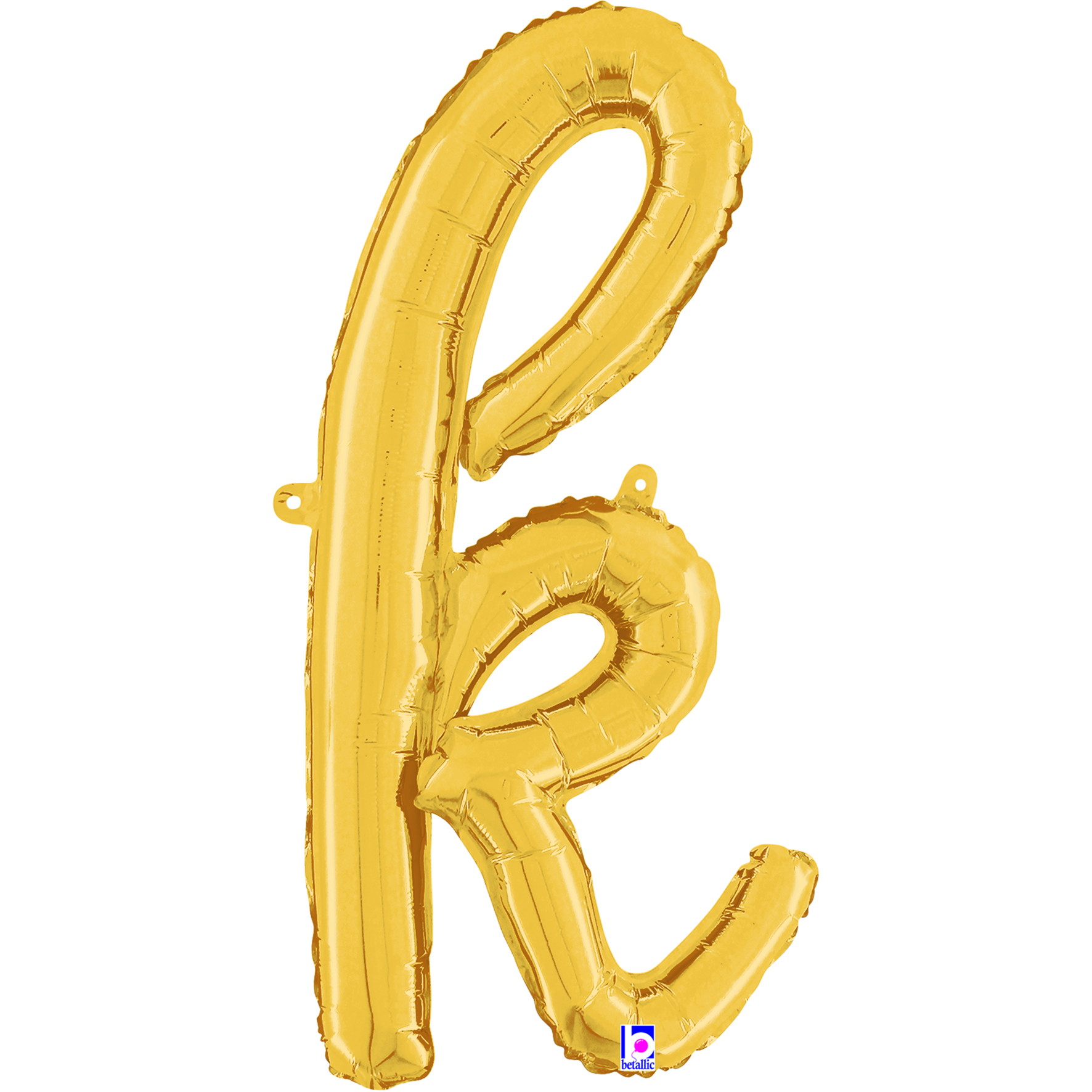 "24"" Air Filled Only Script Letter ""K"" Gold Foil Balloon"