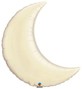 "35"" Pearl Ivory Crescent Moon Balloon (Damaged Print)"