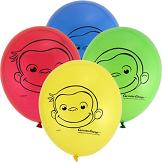 8 Pack Curious George Latex Balloon