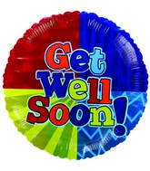 "4"" Get Well Colour Blast Balloon"