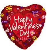 "36"" Happy Valentine&#39s Day Fun Icons"